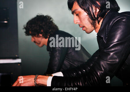 Justice live at Field Day festival in Victoria Park London. - Stock Image