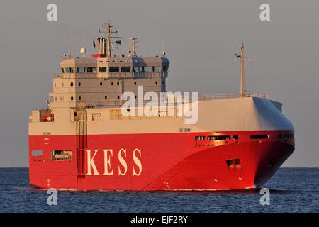 Carcarrier Isar Highway entering Kiel Fjord bound for Kiel-Canal - Stock Image