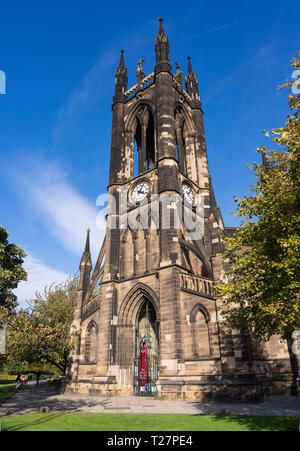 Newcastle-upon-Tyne, NE England city. Haymarket area. St Thomas Martyr, historic church. - Stock Image
