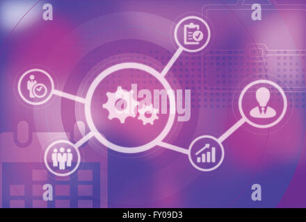 Illustrative image represents the concept of business management - Stock Image