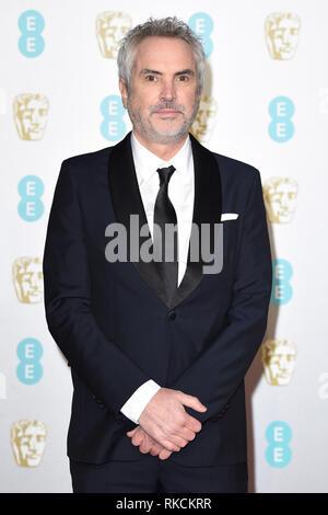 London, UK. 10th Feb, 2019. LONDON, UK. February 10, 2019: Alfonso Cuaron arriving for the BAFTA Film Awards 2019 at the Royal Albert Hall, London. Picture: Steve Vas/Featureflash Credit: Paul Smith/Alamy Live News - Stock Image