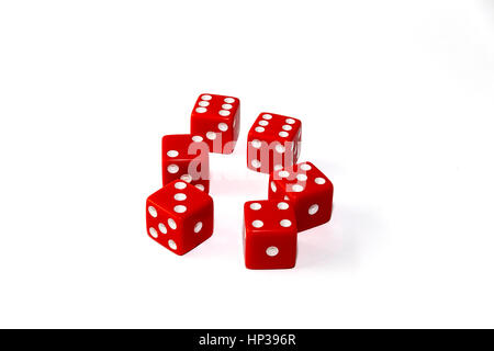 Farkle and or Zilch a dice game played with 5 or 6 die - Stock Image
