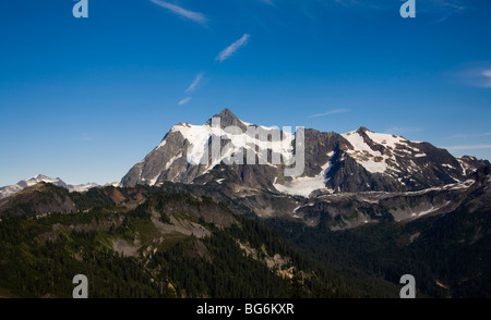 Mt Shuksan, Mt Baker-Snoqualmie National Forest, Washington State, USA - Stock Image