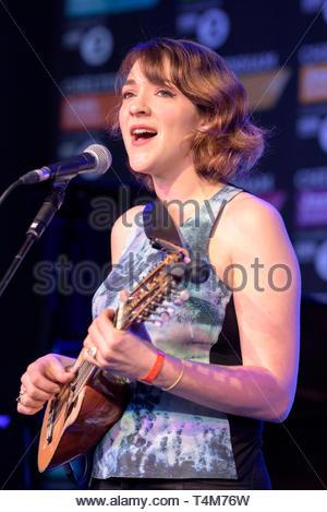 Becca Stevens  performing live at the  Cheltenham Jazz Festival, England, 2016 - Stock Image