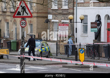 London, United Kingdom. 30 November 2018. The Metropolitan Police Service were called at approximately 03:00 on Friday 30th November 2018 to reports of an attempted rape in York Way, N7. Officers attended and a man, aged in his 40s, was arrested on suspicion of attempted rape and possession of a class A drugs. Credit: Peter Manning/Alamy Live News - Stock Image