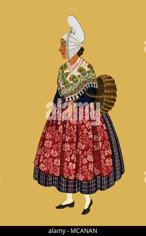 la normandie-jeune femme du treport - Stock Image