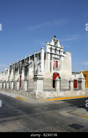 Church of the Sweet Name of Jesus, Campeche, Yucatan Peninsular, Mexico - Stock Image