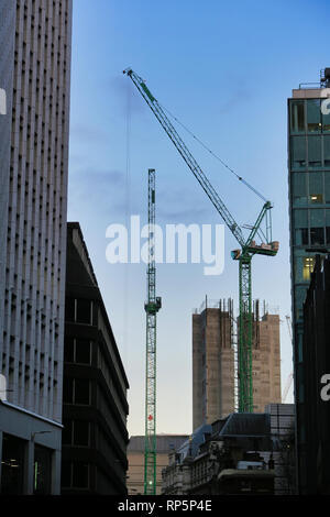 Construction of skyscraper in City of London, England, UK - Stock Image