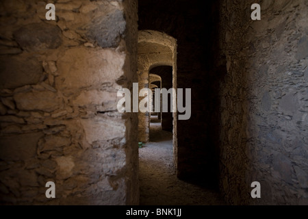 The multiple arches inside an abandoned gold mine, in Mineral de Pozos, San Luis de la Paz, Mexico. - Stock Image