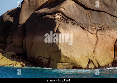 Pink granite coast, Cotes d'Armor, Brittany, France, Europe. - Stock Image