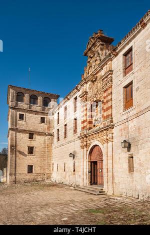 San Pedro de Cardena monastery in Burgos, Castilla y Leon, Spain . - Stock Image