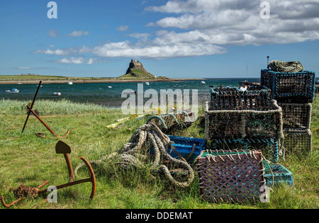 The Fishermans View of Lindisfarne Castle - Stock Image