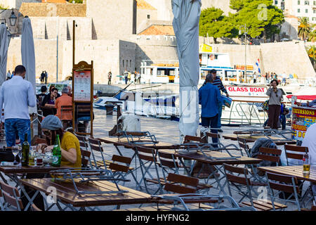 Marina in Old City, Dubrovnik - Stock Image