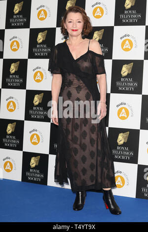 The Royal Television Society Awards (RTS Awards) 2019 held at Grosvenor House Hotel - Arrivals  Featuring: Lesley Manville Where: London, United Kingdom When: 19 Mar 2019 Credit: Lia Toby/WENN.com - Stock Image
