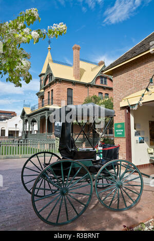Buggy on display at Heritage Square in Phoenix, Arizona, USA. - Stock Image