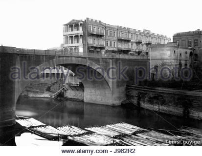 Old Tbilisi   XIX century - Stock Image