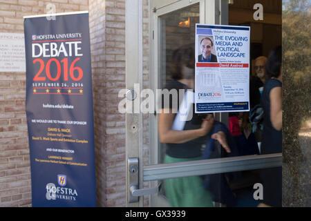Hempstead, New York, USA. September 13, 2016. Students and community members enter John Cranford Adams Playhouse - Stock Image