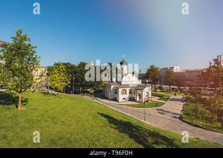 The Orthodox Church of the Conception of St. Anne in Zaryadye Park - Stock Image