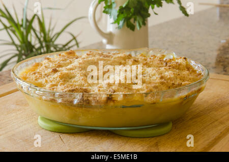 Veronica's Apple Crumble fresh from the oven - Stock Image