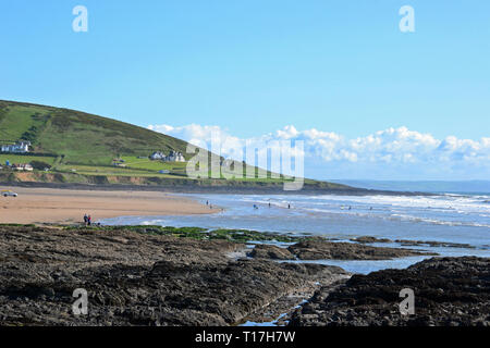 Croyde Bay, Croyde Beach, Croyde, Braunton, North Devon, UK - Stock Image
