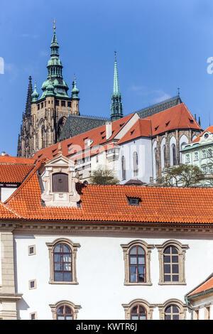 Wallenstein Palace, Prague Castle View, Czech Republic, Europe - Stock Image