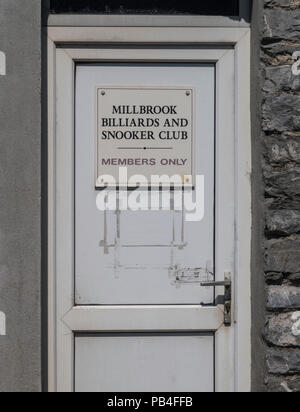 Millbrook billiards and snooker club, Cornwall - Stock Image