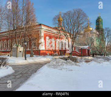 Assumption church, 1687, Novodevichy Convent, Moscow, Russia - Stock Image