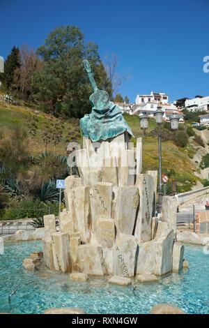 Fountain in Alora, Málaga province, Spain. - Stock Image