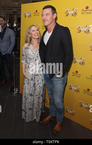 Celebs attend gala evening for Dolly Parton's 9 to 5 The Musical  Featuring: Kylie Minogue, Luke Evans Where: London, United Kingdom When: 17 Feb 2019 Credit: Phil Lewis/WENN.com - Stock Image
