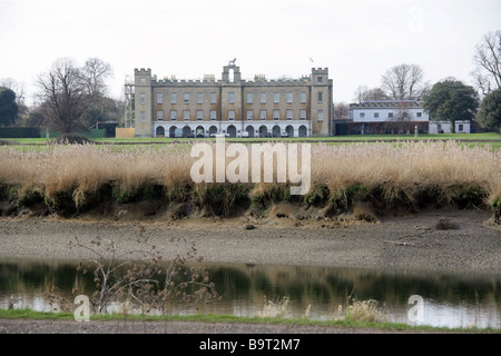 Syon House from Kew Gardens and the River Thames - Stock Image