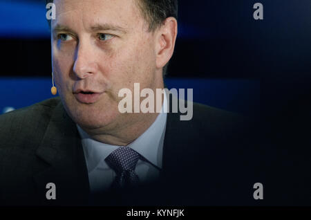 Acting NASA Administrator Robert Lightfoot speaks about the future of space travel during a discussion with Alison - Stock Image
