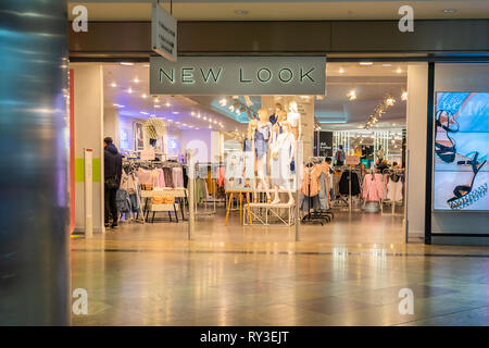 New Look shop entrance inside Westquay shopping centre in Southampton, England, UK - Stock Image