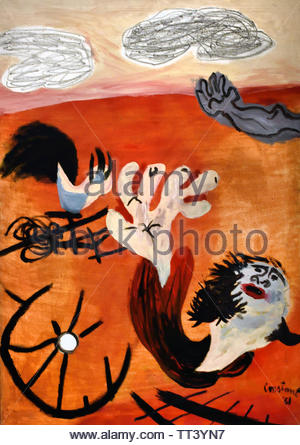 Scorched Earth by Constant born in 1920 Dutch painter, (sculptor,  poet, Avant-garde movement Cobra), The, Netherlands. - Stock Image