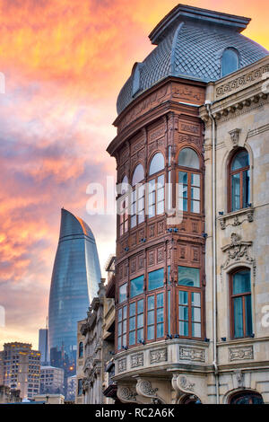 Street in Icheri Sheher, Baku Azerbaijan - Stock Image