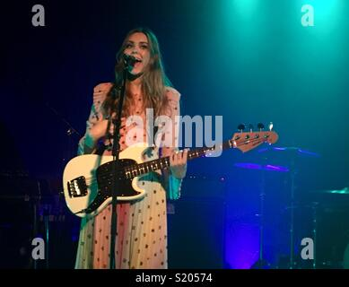 Johanna from First Aid Kit playing in Melbourne during the Ruins Tour - Stock Image