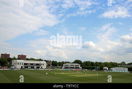 A general view of the game between Kent and Surrey during day one of the Specsavers Division One County Championship match at The County Ground, Beckenham. - Stock Image