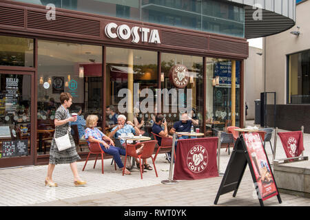 Costa Coffe Shop, Bristol, UK - Stock Image