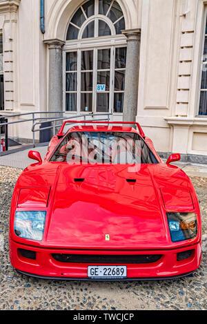 Piedmont Turin - Turin auto show 2019  - Valentino park - Valentino castle - Ferrari F40 - Stock Image