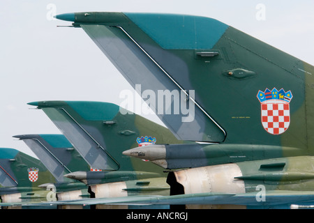 Croatian Air Force MiG-21 BISD fighters - Stock Image