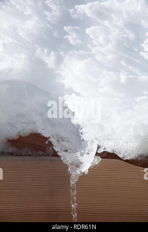Detail of  white snow texture. - Stock Image