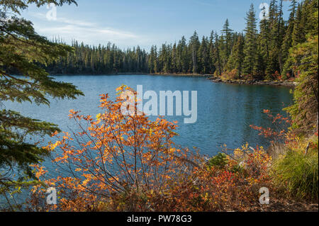 Lower Lake in the Olallie Scenic Area, Mt. Hood National Forest, Oregon - Stock Image