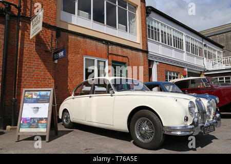 Jaguar Mk2 3.4 (1962), British Marques Day, 28 April 2019, Brooklands Museum, Weybridge, Surrey, England, Great Britain, UK, Europe - Stock Image