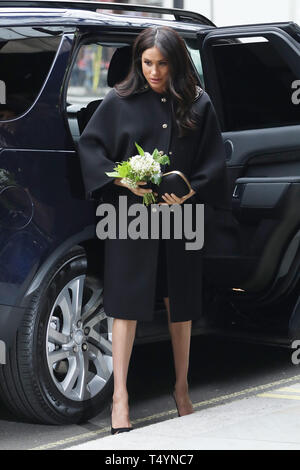 Duke and Duchess of Sussex visit Newzealand House - Arrivals  Featuring: Meghan Markle, Duchess of Sussex Where: London, United Kingdom When: 19 Mar 2019 Credit: Lia Toby/WENN.com - Stock Image