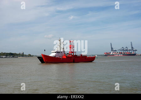 Trinity House lightship, Harwich, Essex, UK. - Stock Image