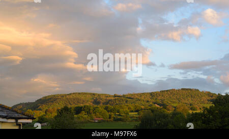 Sky after a Storm over Henallt Common, Brecknock - Stock Image