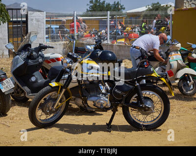 XII Concentración motos clásicas Villa de Mijas -classic motorcycle meeting in Mijas, Málaga province, Andalusia, Spain. - Stock Image