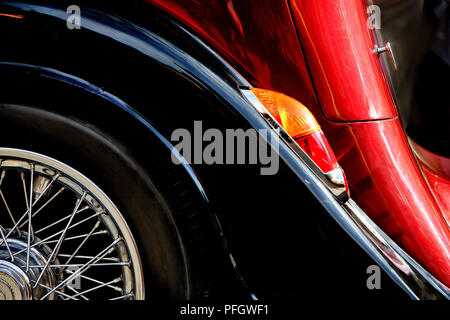 Fragment of an old car - Stock Image