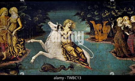 The Abduction of Europe by LIBERALE BONIFANTI - LIBERALE DA VERONA 1445 - 1527/29 Italian, Italy, - Stock Image