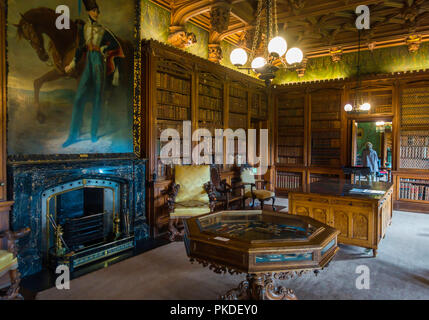 Sir Walter Scott's Library in his home Abbotsford Melrose Scotland - Stock Image
