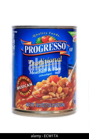 Progresso Traditional Meatball & Rice Albondigas Soup - Stock Image